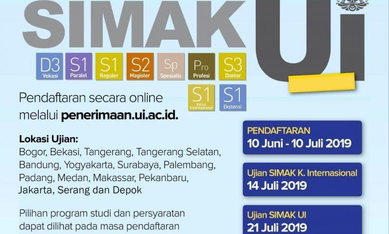Photo of UI Terima 3.934 Mahasiswa Baru melalui SIMAK UI