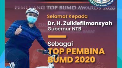 Photo of Gubernur NTB Dianugerahi TOP Pembina BUMD 2020