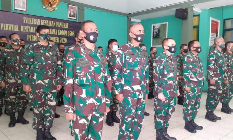 Photo of 34 Prajurit Kodim Depok Naik Pangkat, Ini Pesan Dandim